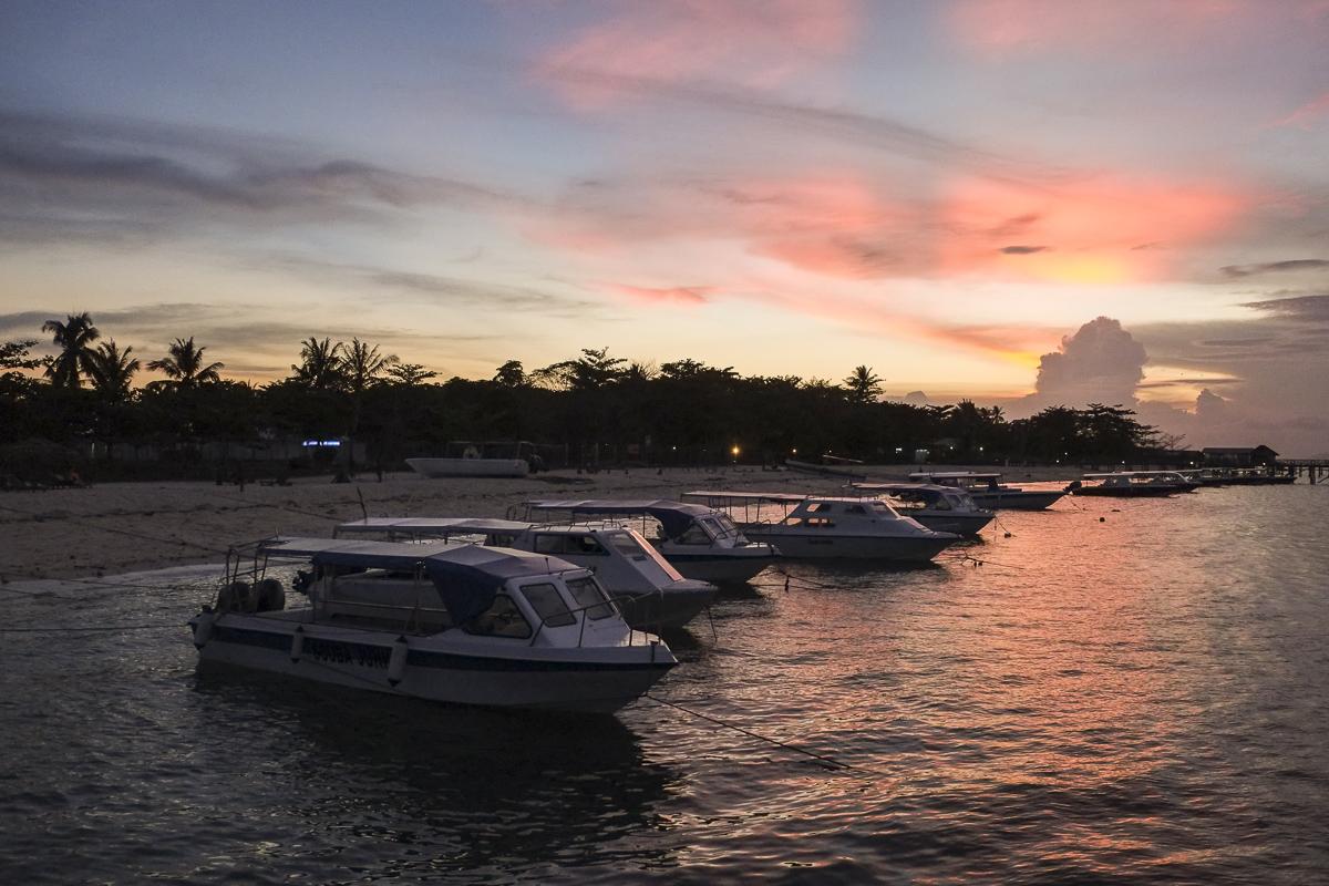Sunset at Mabul Beach Resort