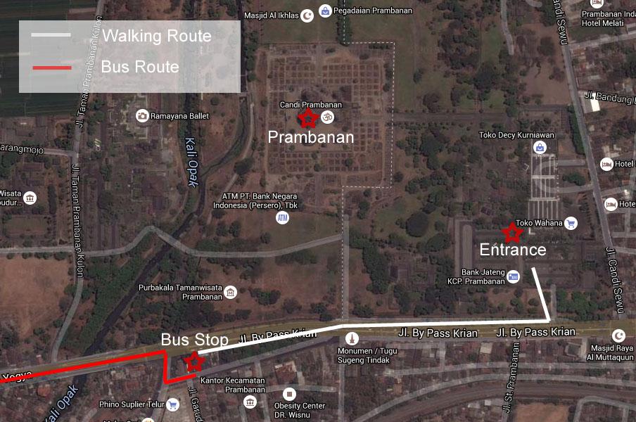 Jogja Prambanan Map