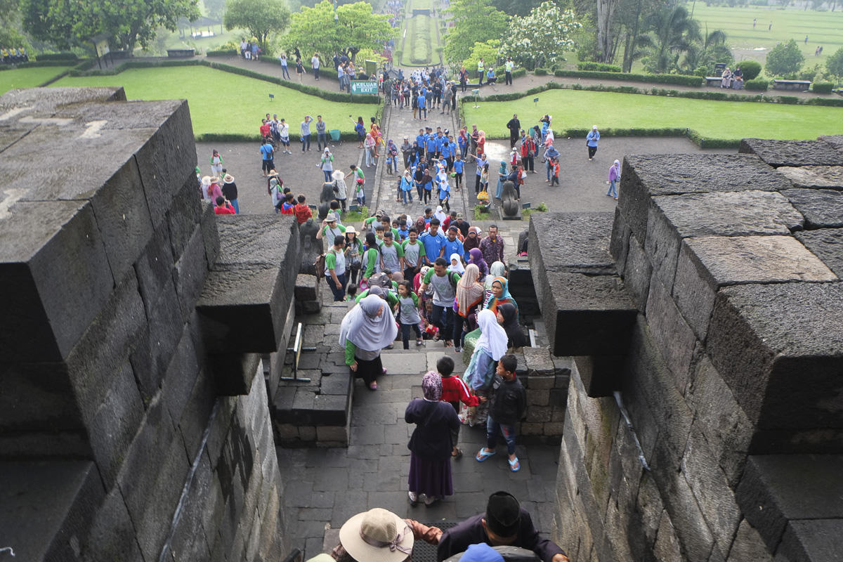 Yogyakarta Borobudur Crowds