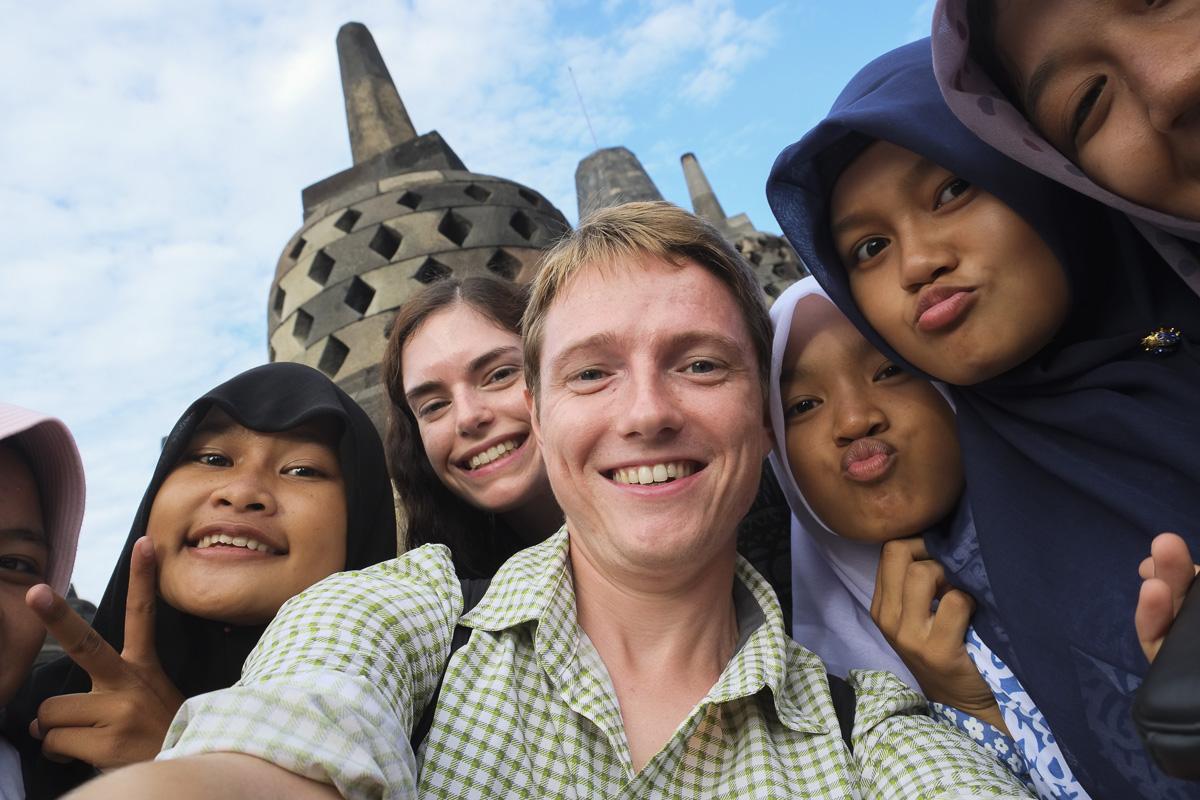 Yogyakarta Borobudur School Trip Selfie