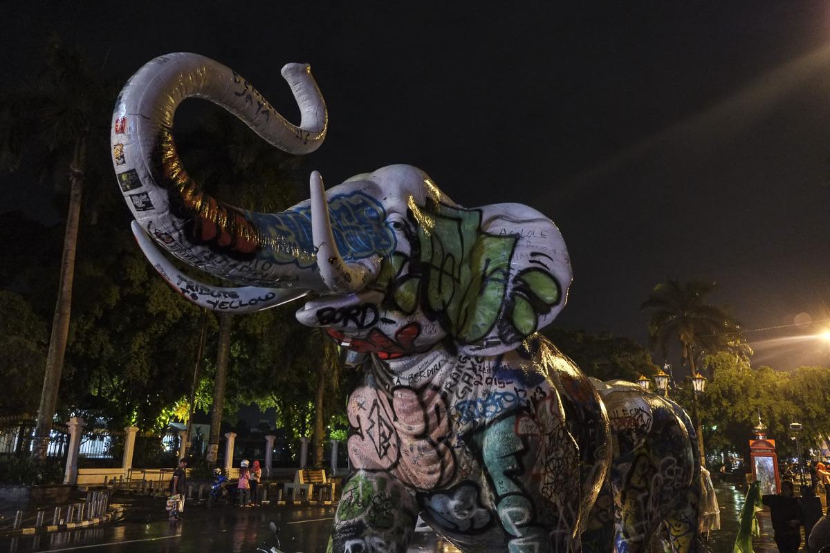 Yogyakarta Street Art Elephant