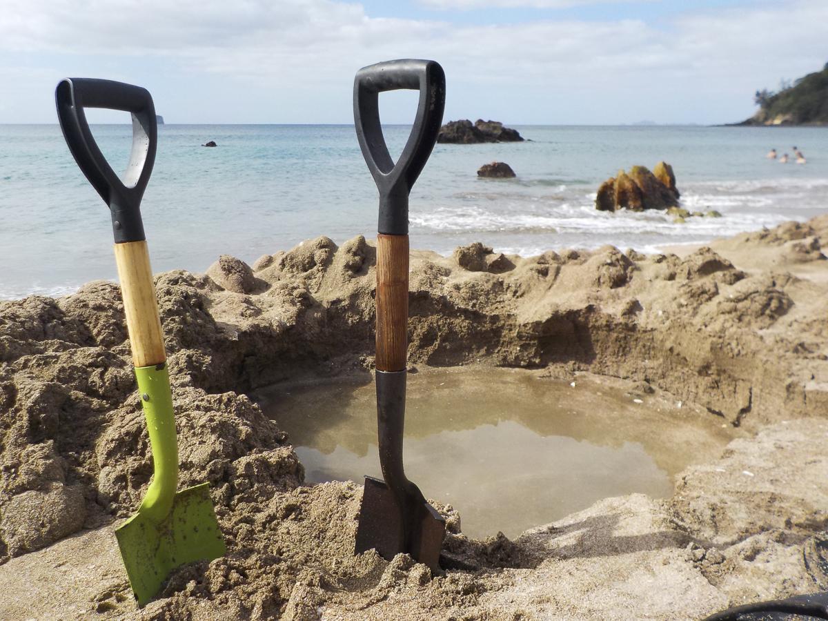 Coromandel Hot Water Beach Spades